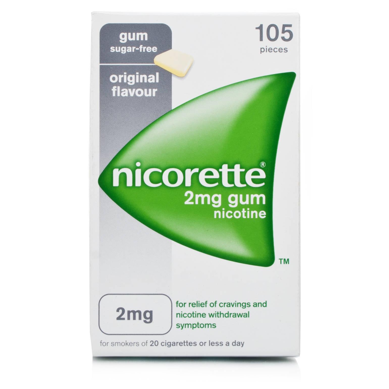 Nicorette Original 2mg Gum 105 Pieces